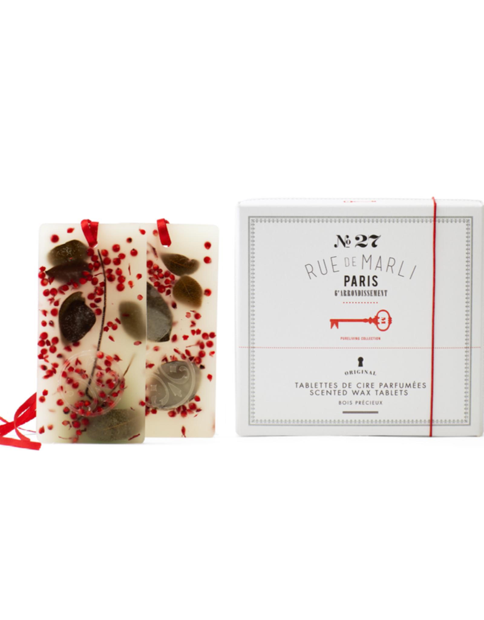 Rue de Marli Tablettes de cire parfumées N°27 - Bois précieux