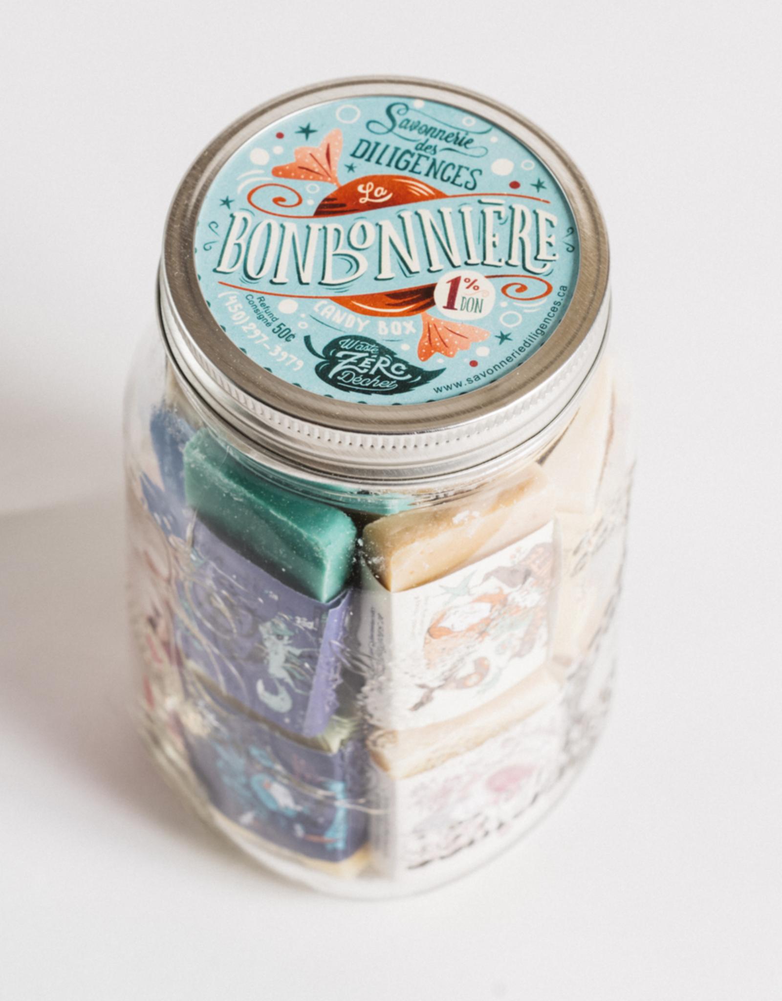 Savonnerie des Diligences Bonbonnière de mini-savons - Grande 600g