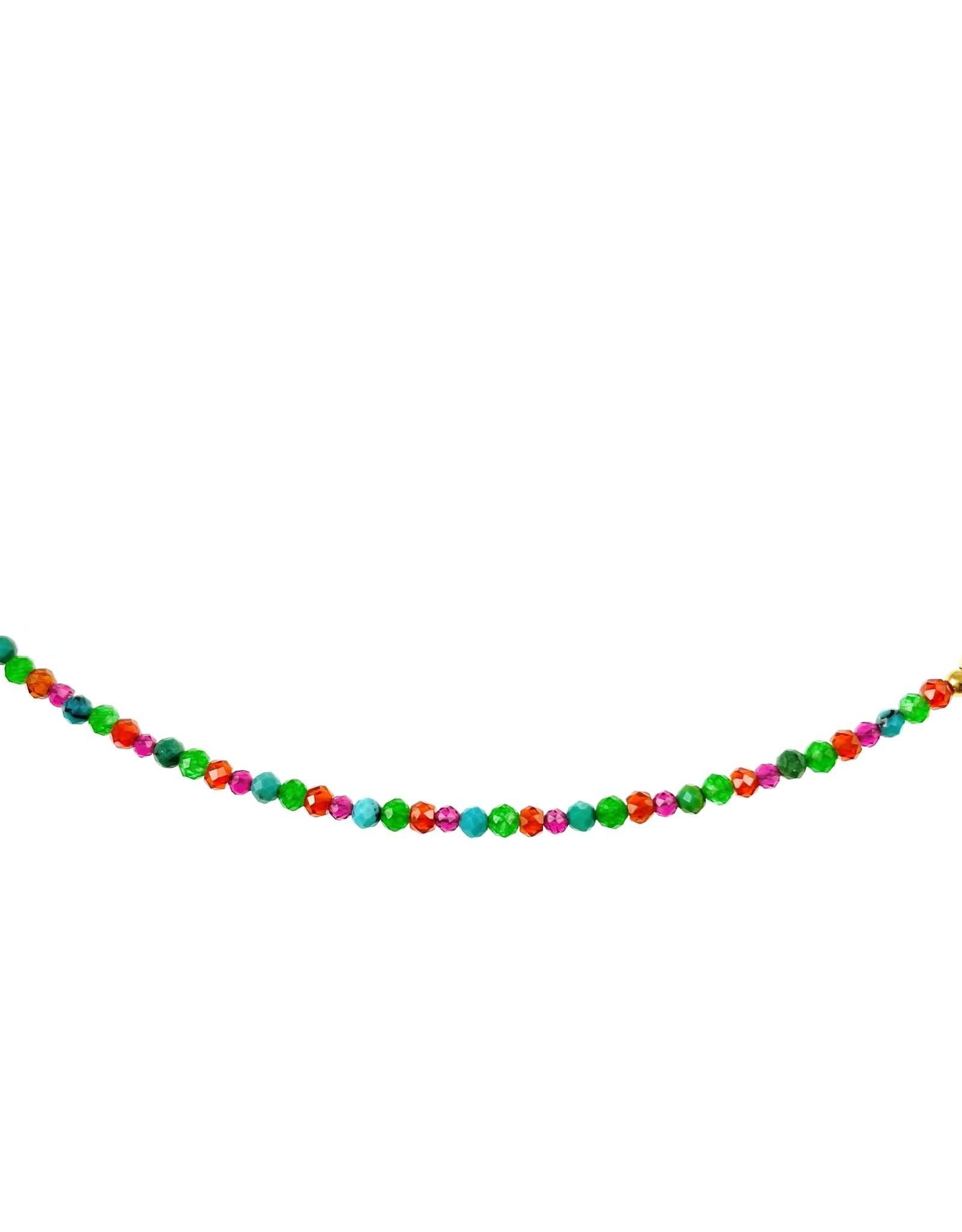Collier 15'' - Perles de verre blanc