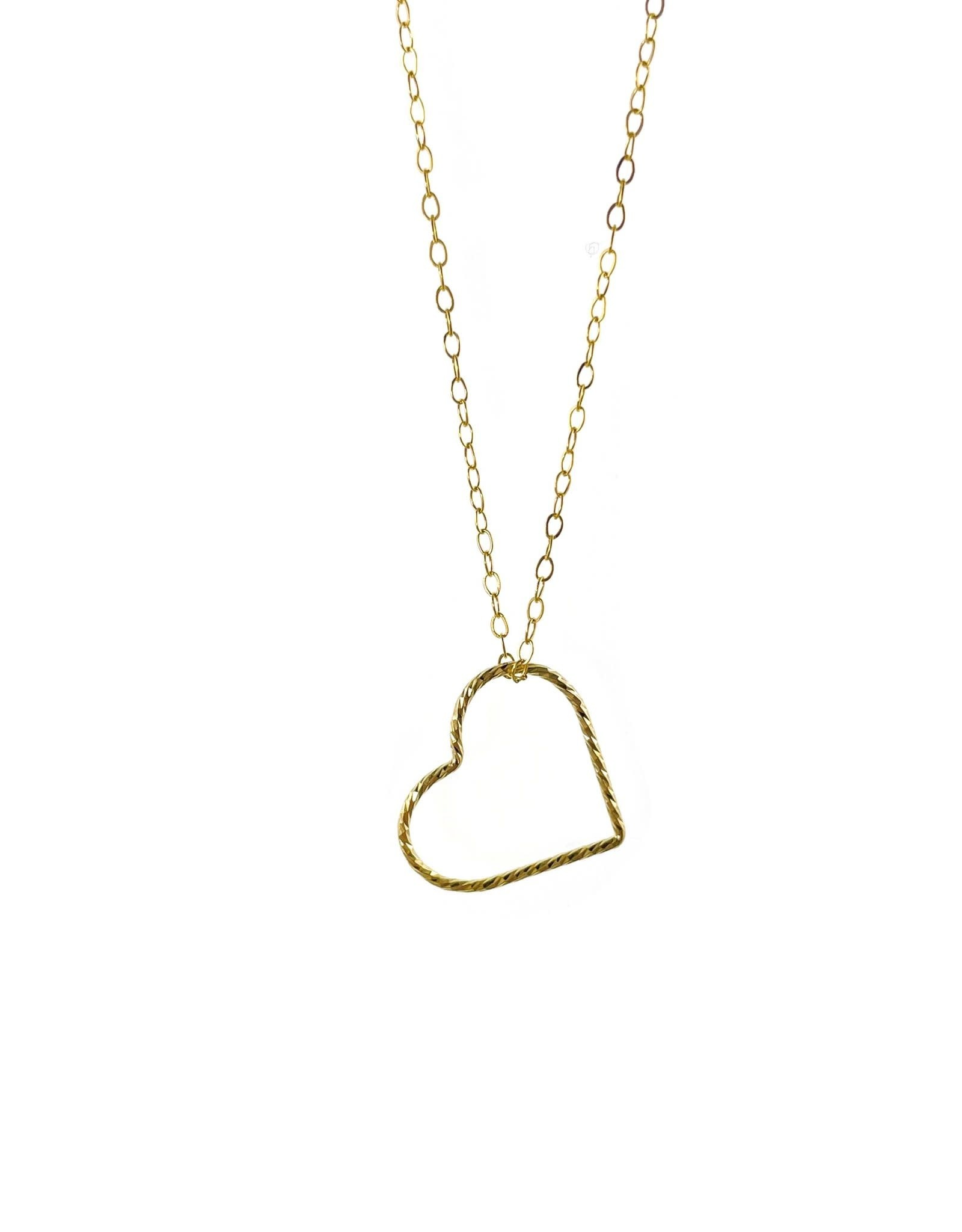 Collier 16'' - Coeur doublé or