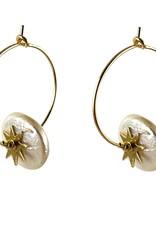 Anneaux 20mm - Perles d'eau douce