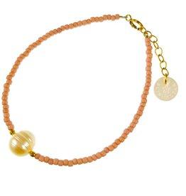 Bracelet - Perles de verre rose