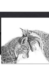 Le Nid atelier Carte de souhaits - Lynx amoureux
