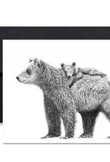 Le Nid atelier Carte de souhaits - Maman ours et bébé
