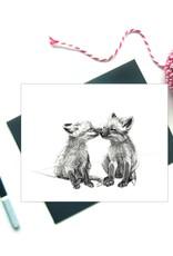 Le Nid atelier Carte de souhaits - Bébés renards