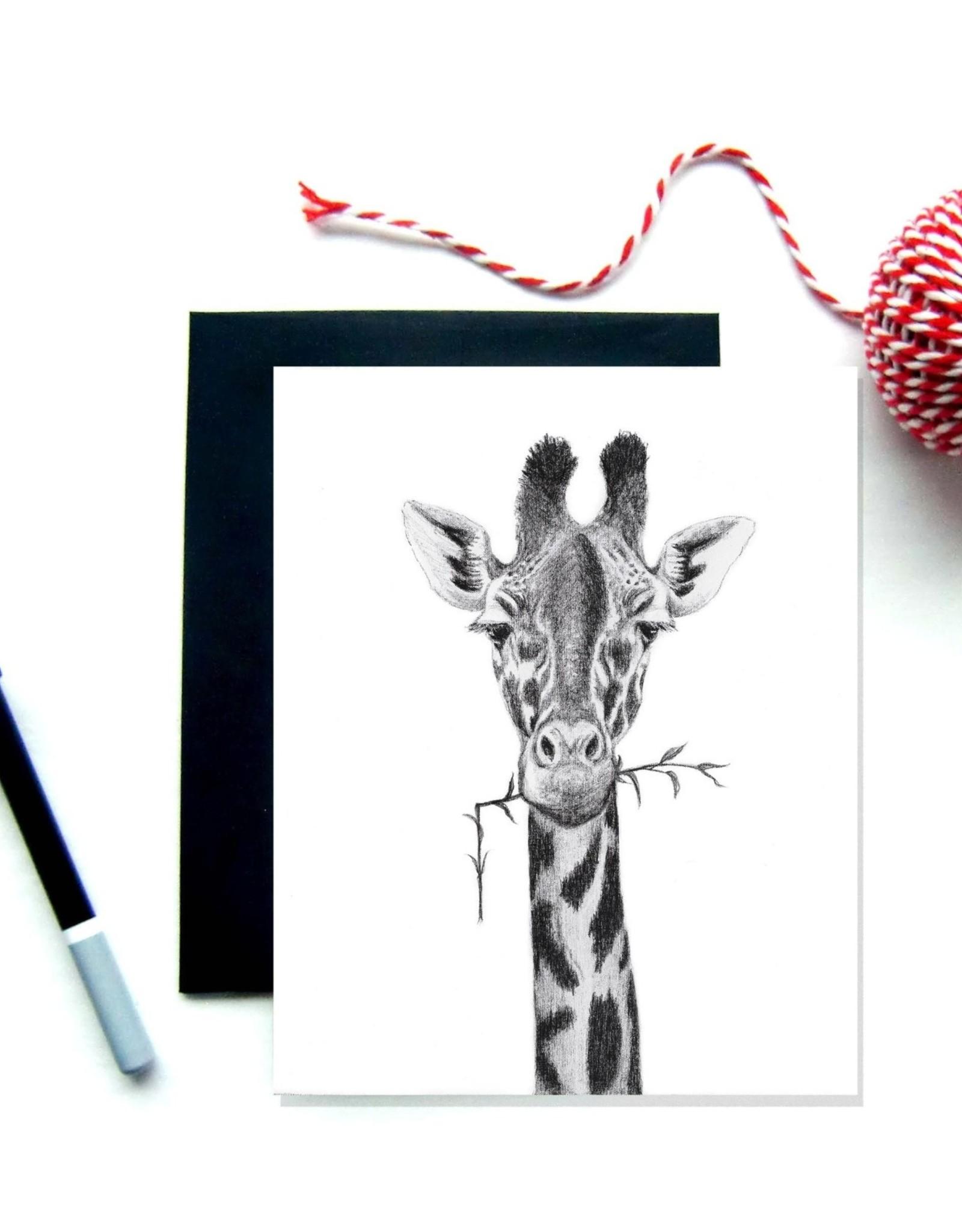 Le Nid atelier Carte de souhaits - Girafe