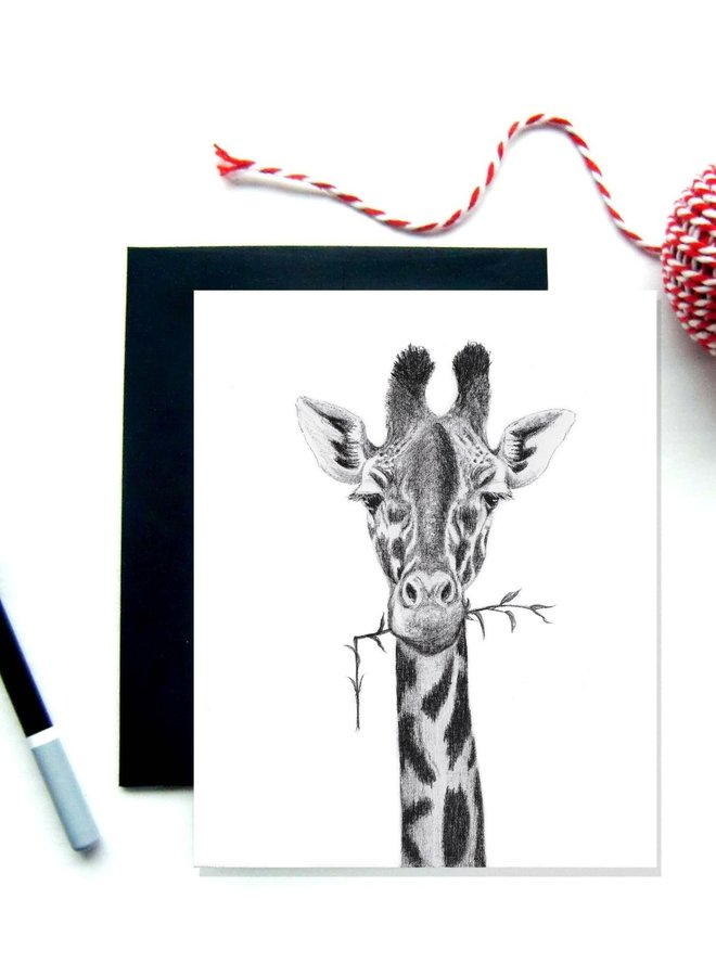 Carte de souhaits - Girafe