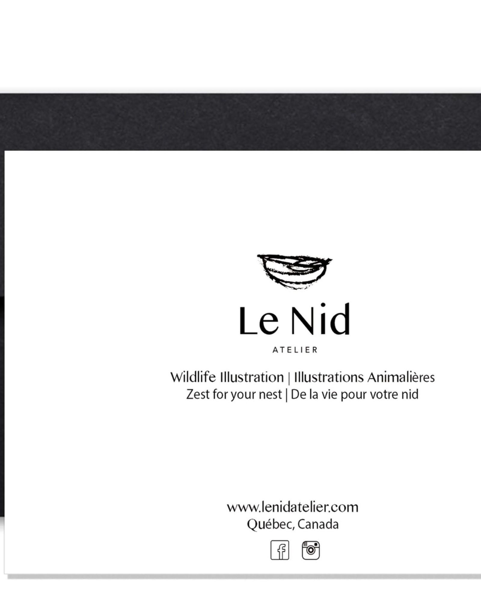 Le Nid atelier Carte de souhaits - Huard