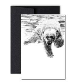 Le Nid atelier Carte de souhaits - Baignade pour ours