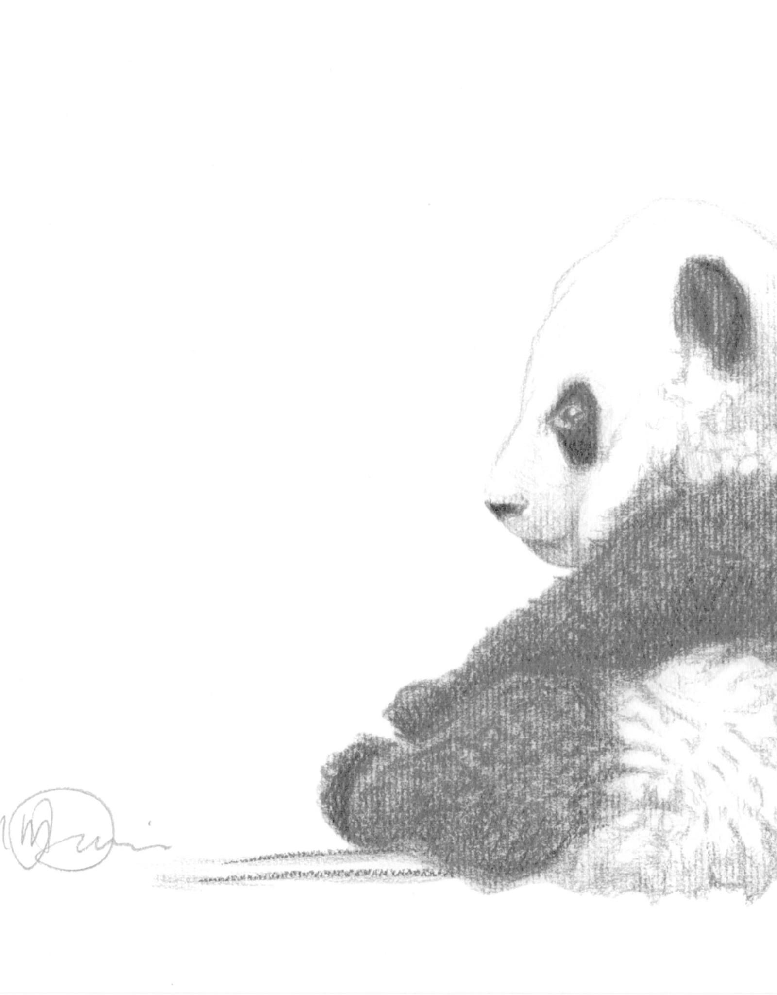 Le Nid atelier Illustration 8x10 - Bébé panda assis