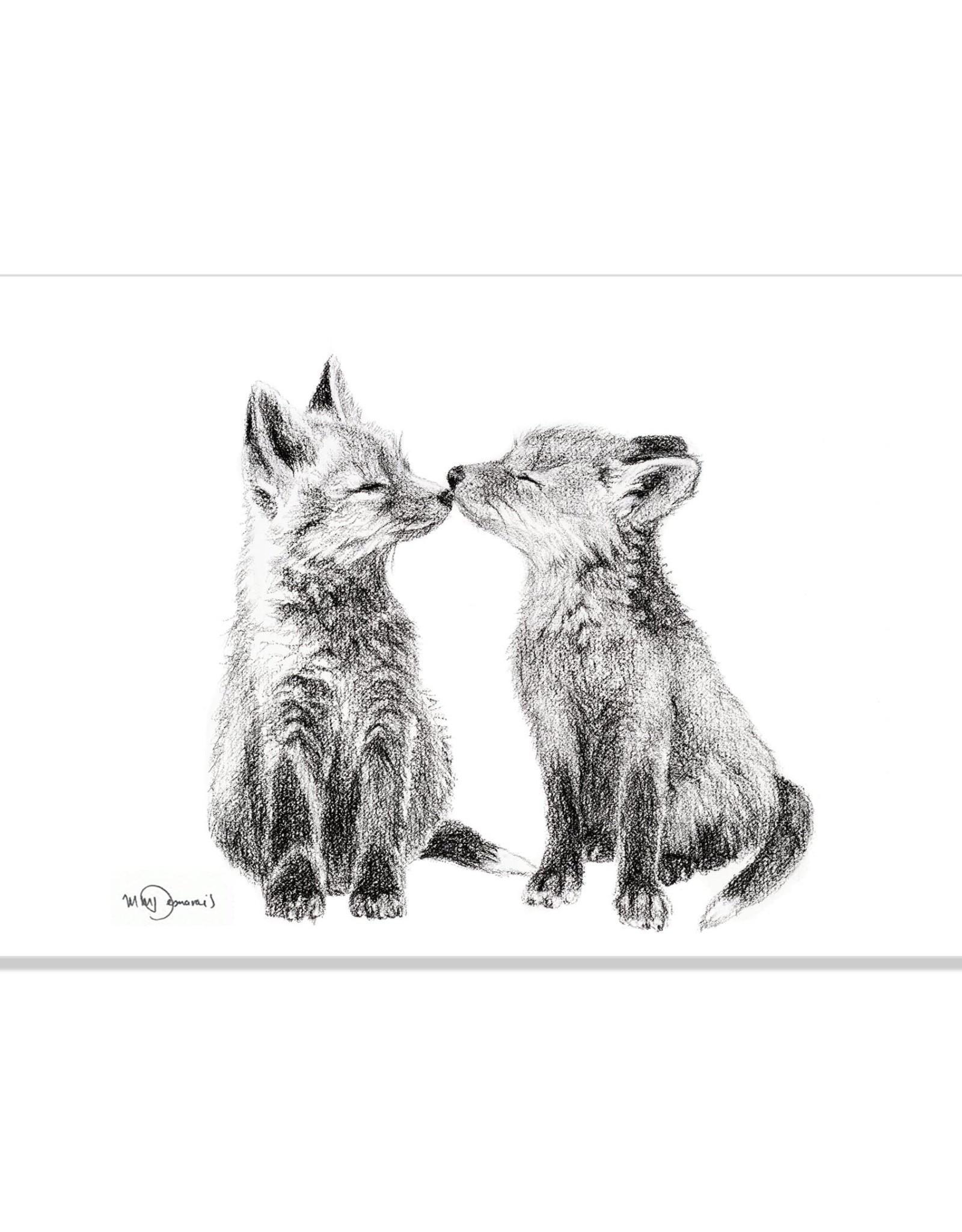Le Nid atelier Illustration 8x10 - Bébés renards