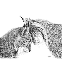 Le Nid atelier Illustration 12x18 - Lynx amoureux