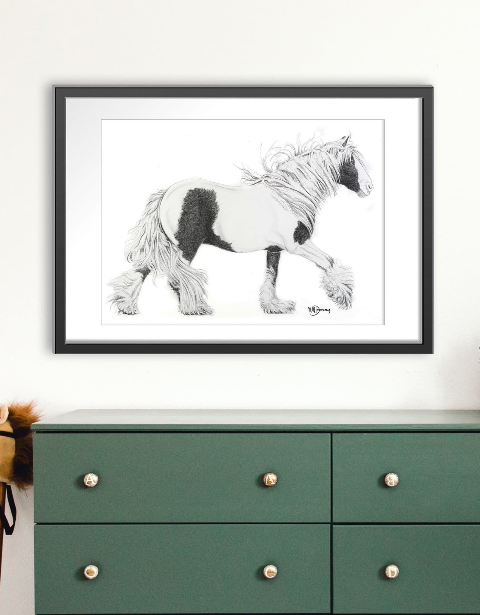 Le Nid atelier Illustration 12x18 - Cheval gitan