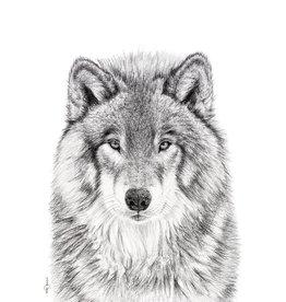 Le Nid atelier Illustration 12x18 - Le loup
