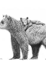 Le Nid atelier Illustration 8x10 - Maman ours et bébé