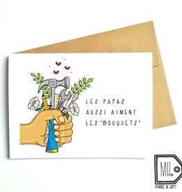 Carte de souhaits - Bouquets papa