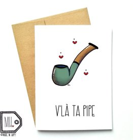 Carte de souhaits - Pipe