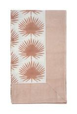 Nappe 60x90 - Paradise palm - Dusty blush