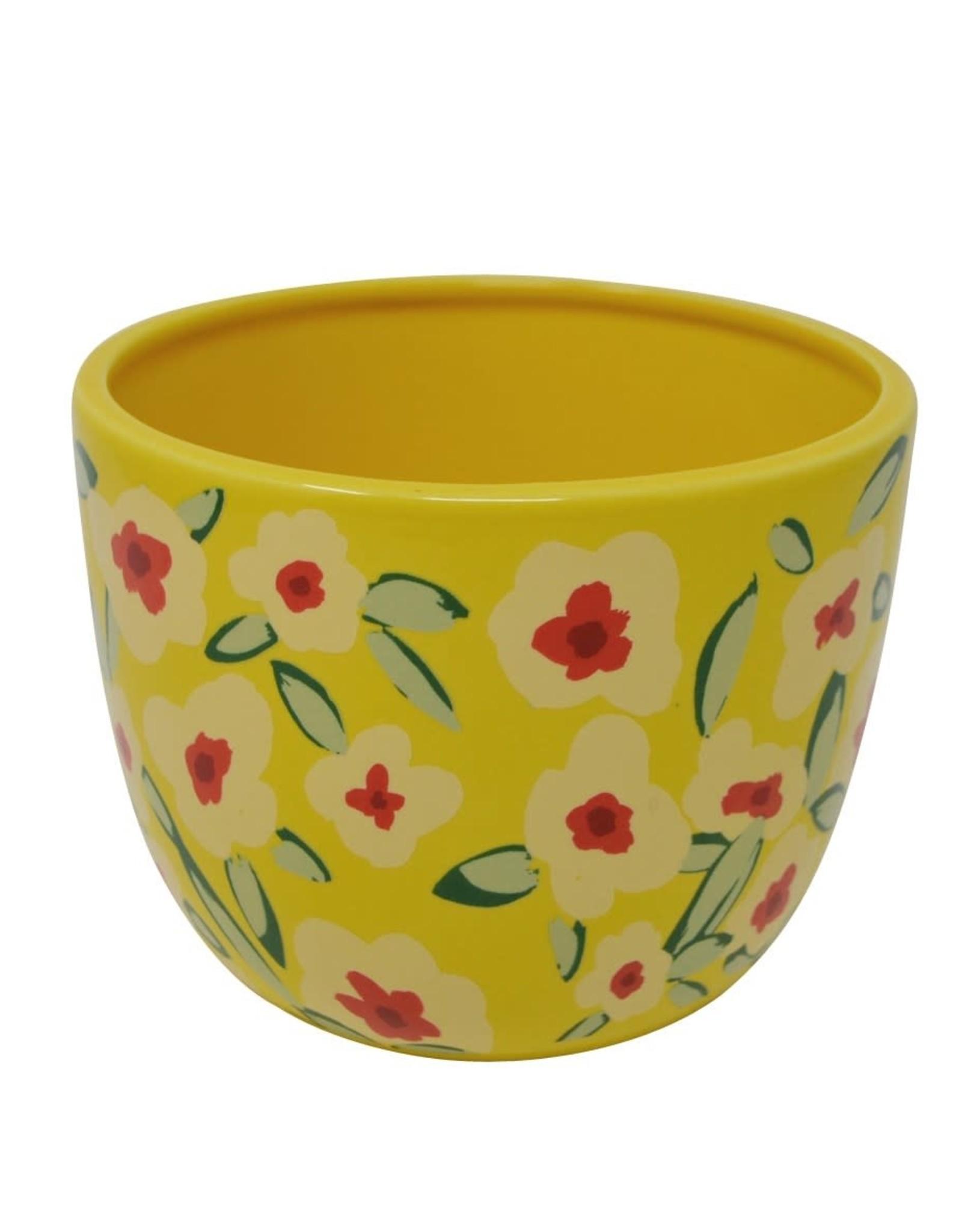 Cache-pot - Fleuri jaune