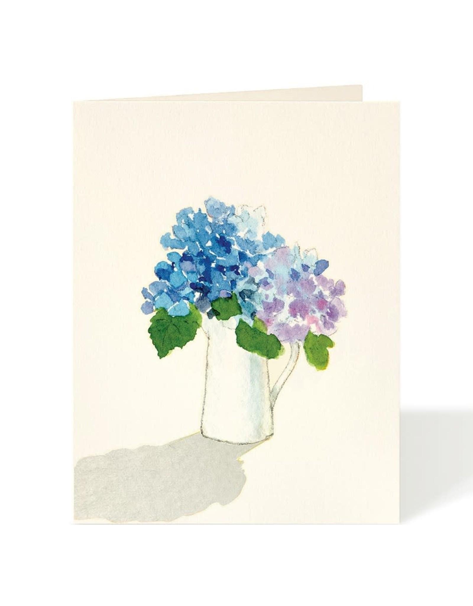 Carte de souhaits - Hydrangées bleues