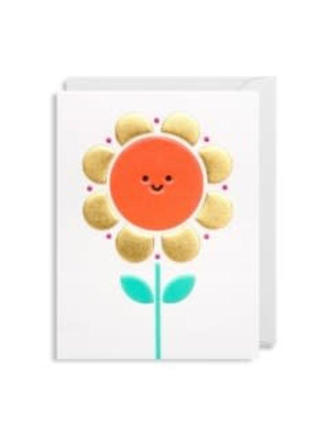 Carte de souhaits mini - Flower