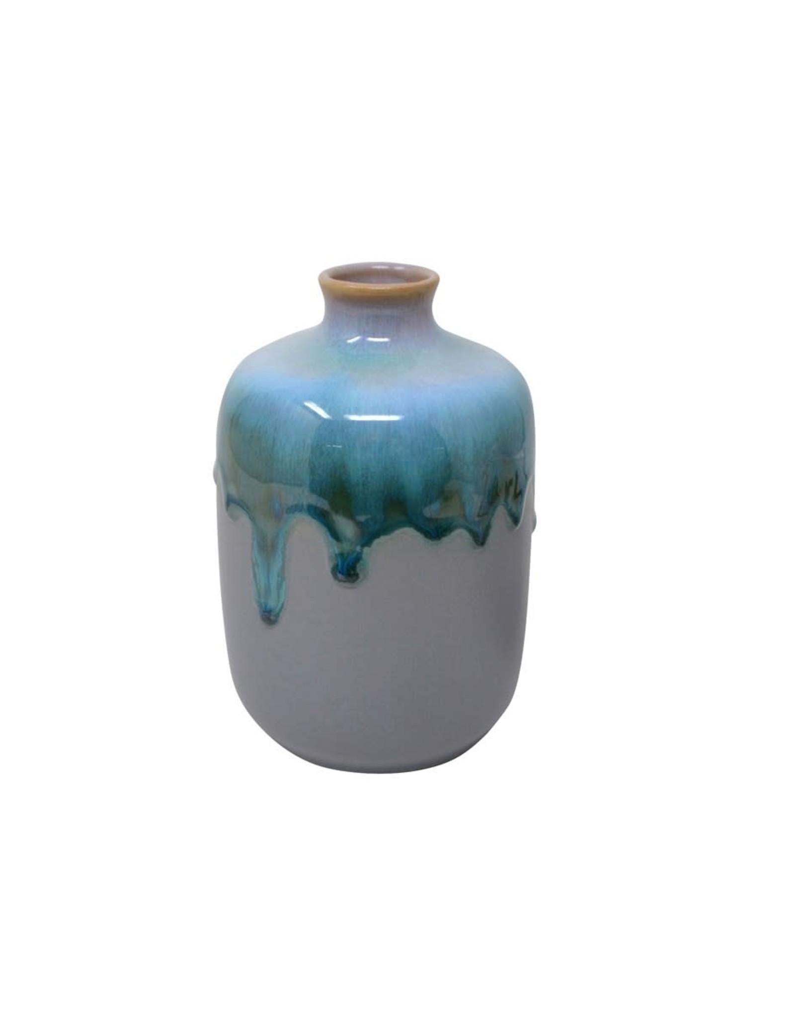 Vase - Gris et bleu