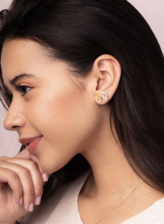 Boucles d'oreilles - Croissant de lune  - Labradorite