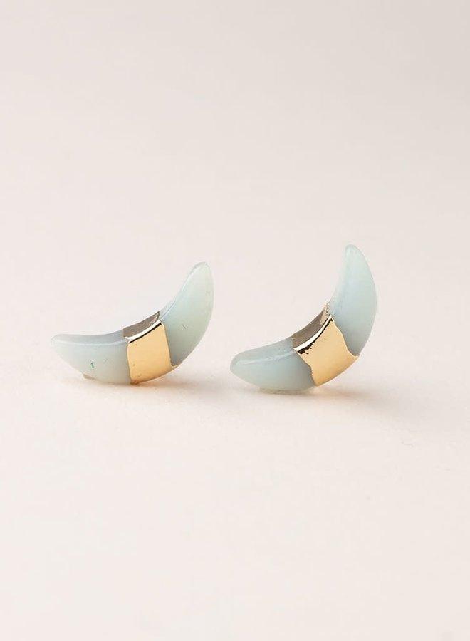 Boucles d'oreilles - Croissant de lune  - Amazonite