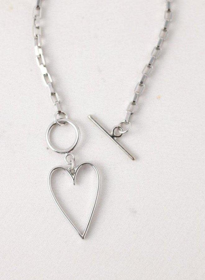 Collier - Lovestruck Heart - Plaqué argent