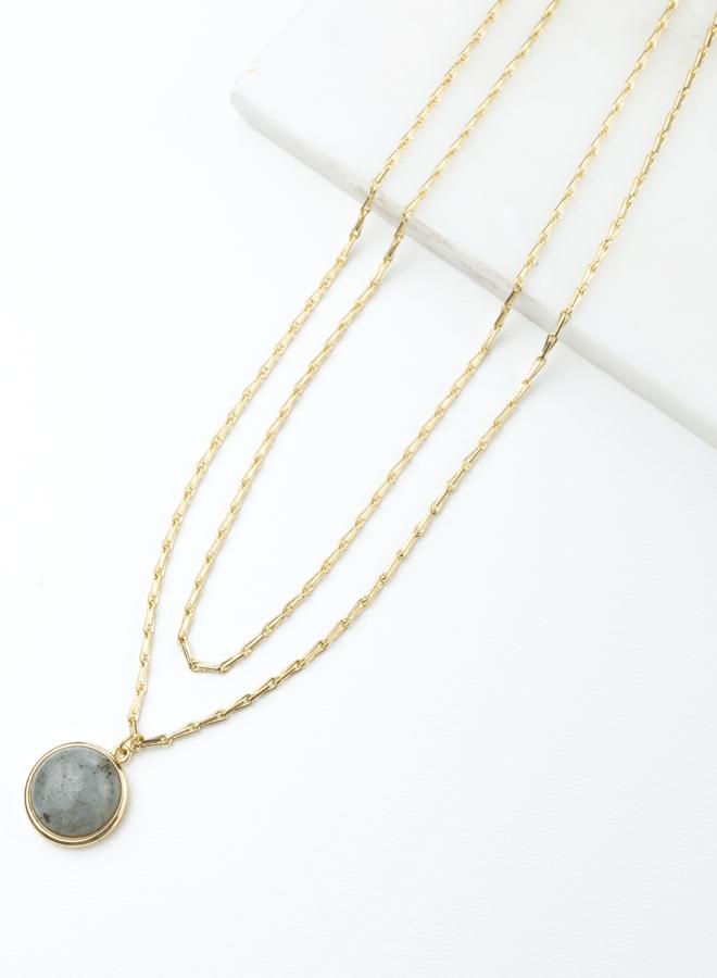 Collier double - Aura - Labradorite