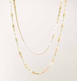 Lover's tempo Collier - Cleo Layered - Plaqué or