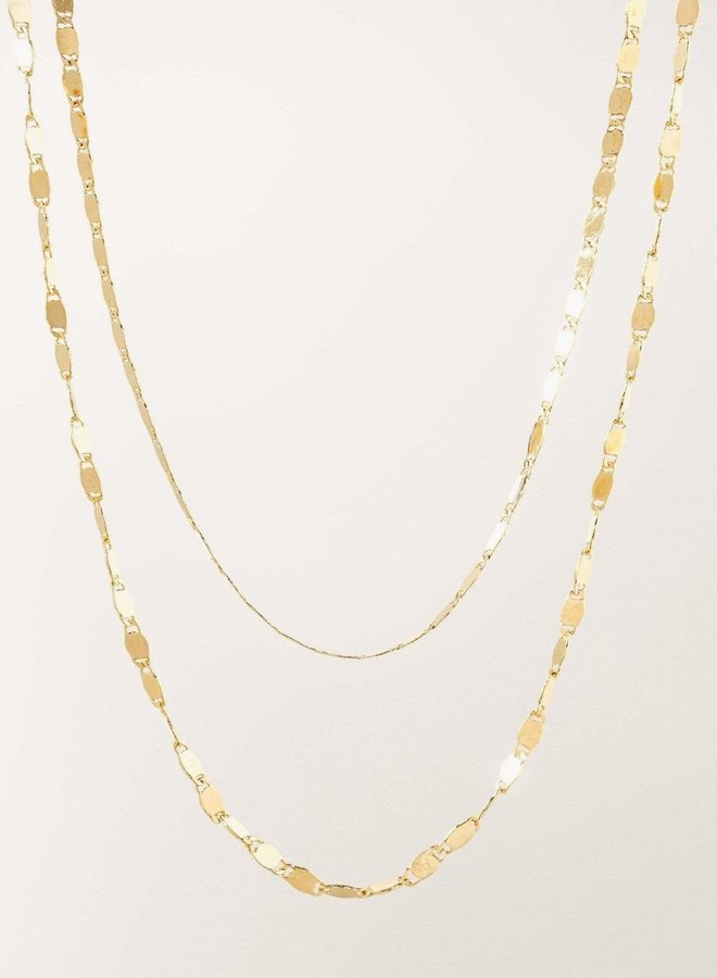 Collier - Cleo Layered - Plaqué or