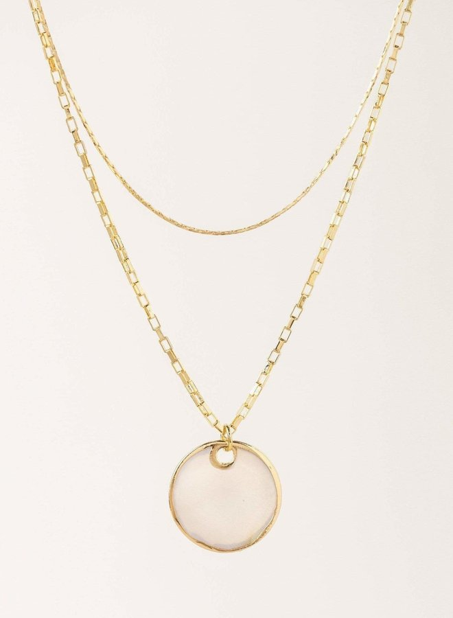 Collier double - Mirage - Plaqué or