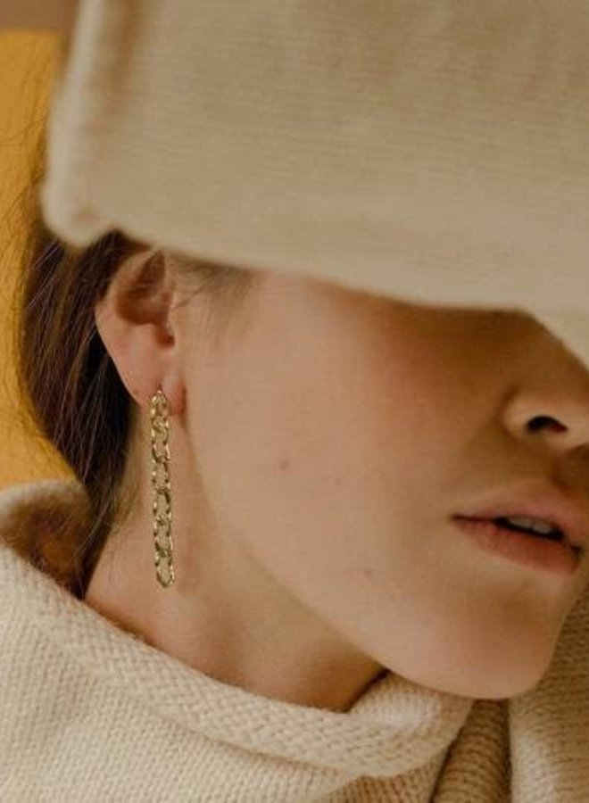 Boucles d'oreilles - Chain Reaction - Plaqué or