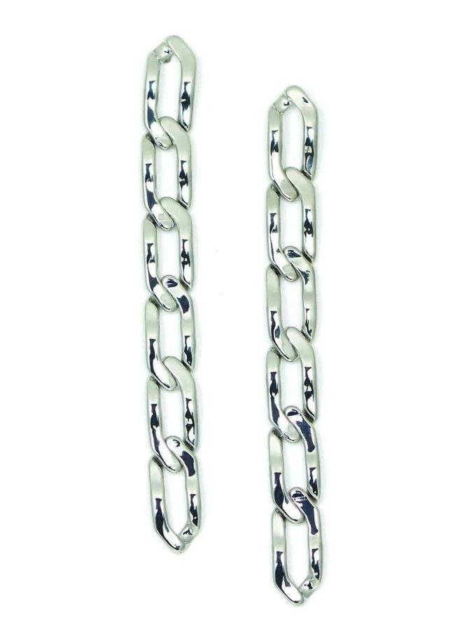 Boucles d'oreilles - Chain Reaction - Plaqué argent