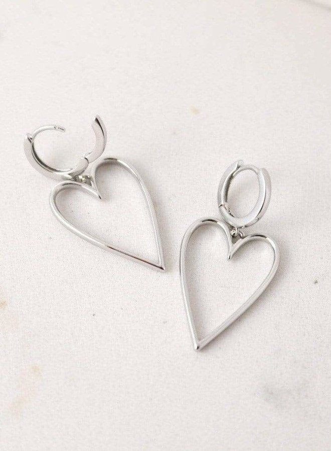 Boucles d'oreilles - Lovestruck Heart - Plaqué argent