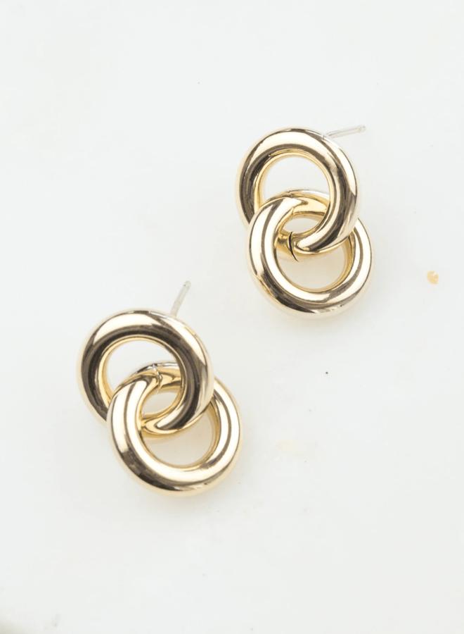 Boucles d'oreilles - Links - Plaqué or