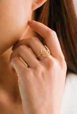 Lover's tempo Bague 7 - Rider - Plaqué or