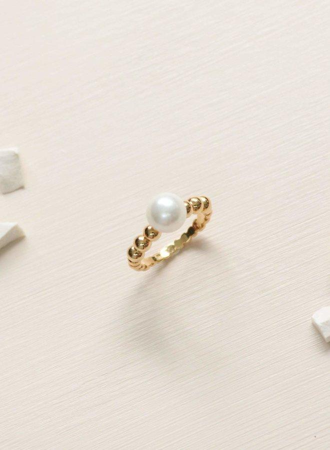 Bague 7 - Steff Pearl - Plaqué or