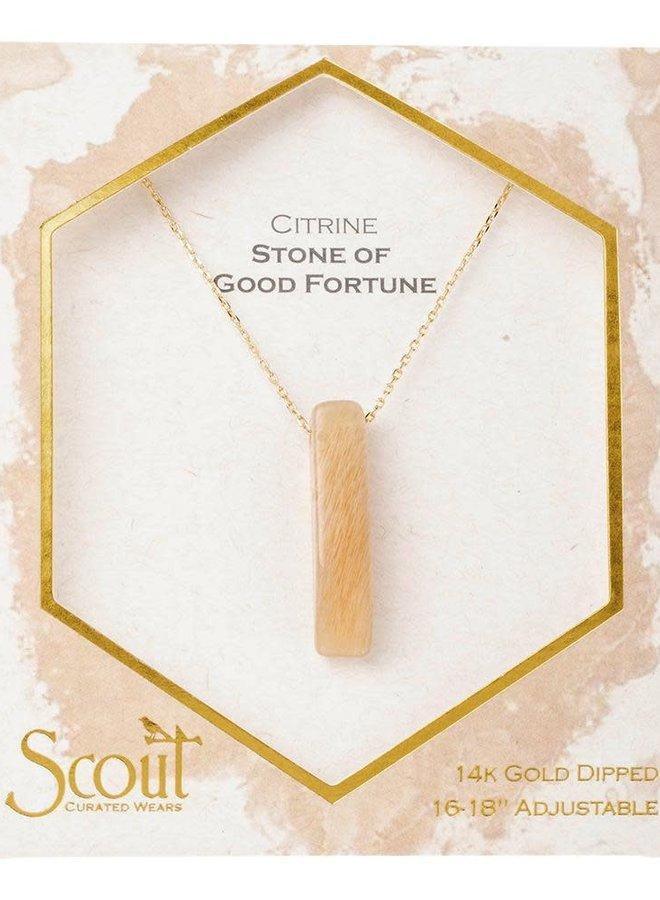 Collier - Stone Point - Citrine