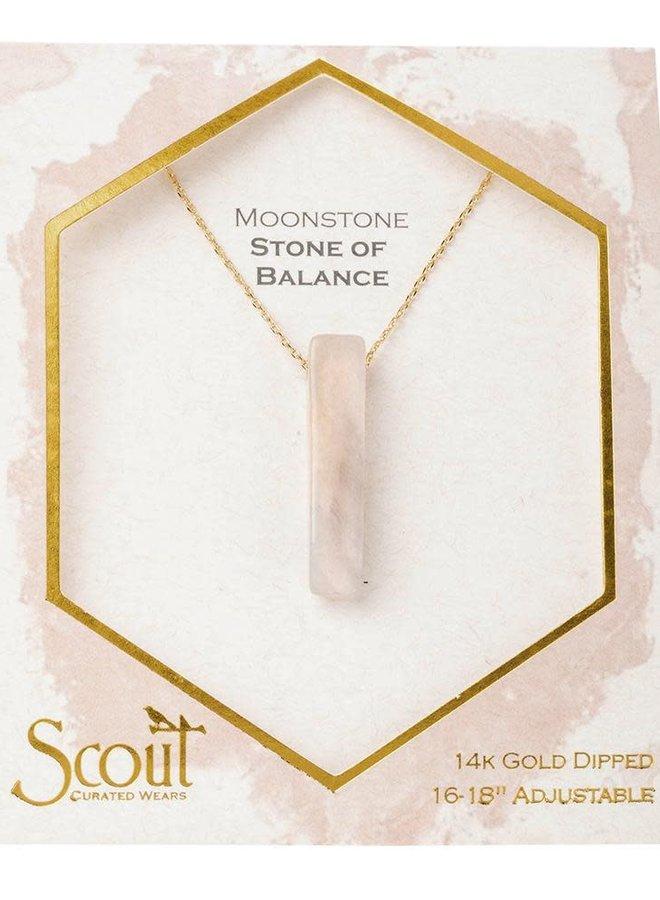 Collier - Stone Point  - Pierre de lune