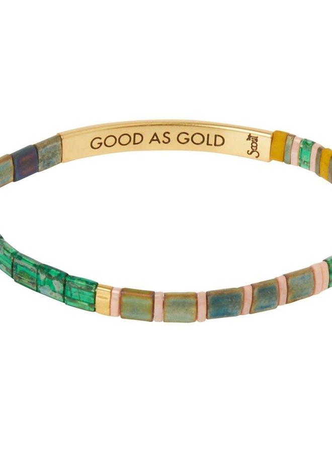 Bracelet Miyuki - Good as gold - Forêt