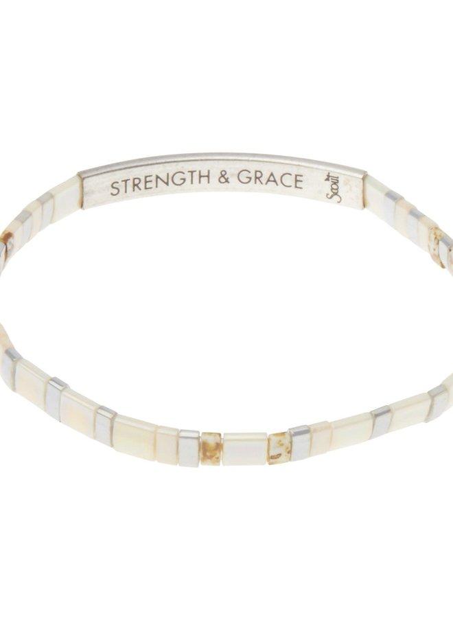 Bracelet Miyuki - Strength & Grace - Ivoire
