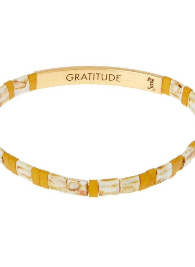 Bracelet Miyuki - Gratitude - Ambre