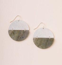 Scout Boucles d'oreilles - Full Moon - Labradorite - Plaqué argent