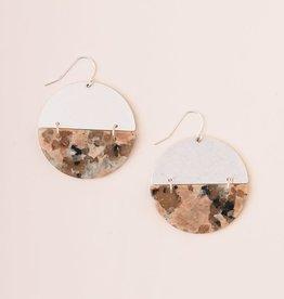 Scout Boucles d'oreilles - Full Moon - Rhodonite - Plaqué argent
