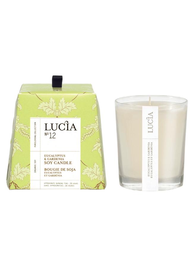 Bougie N°12 - Eucalyptus et gardenia