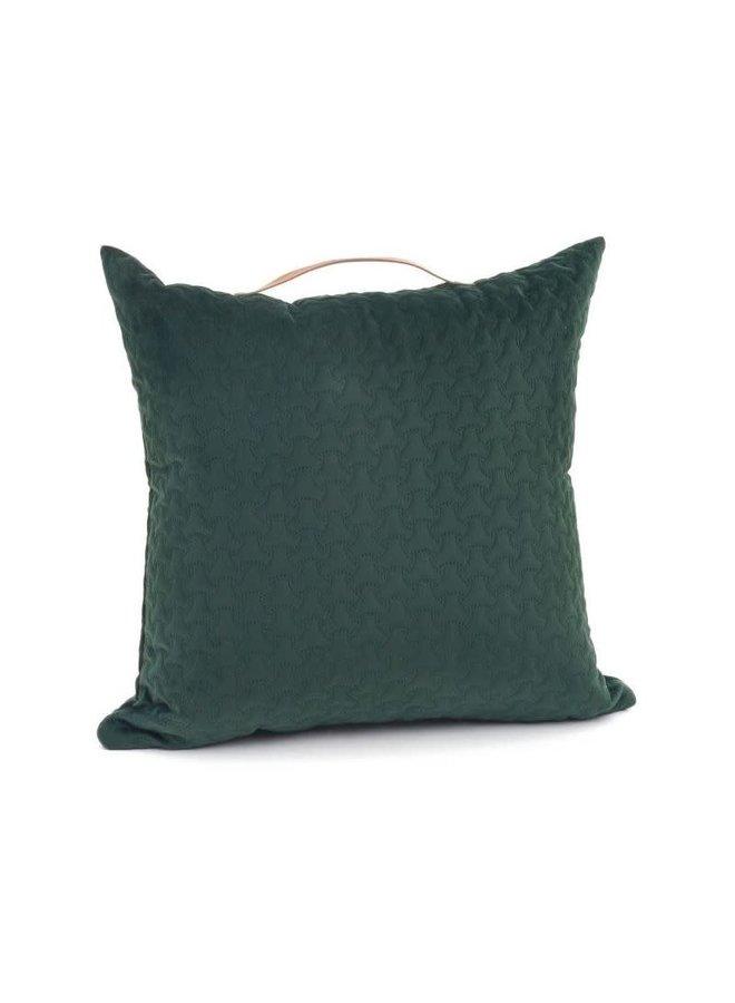 Coussin 18x18 - Velours vert