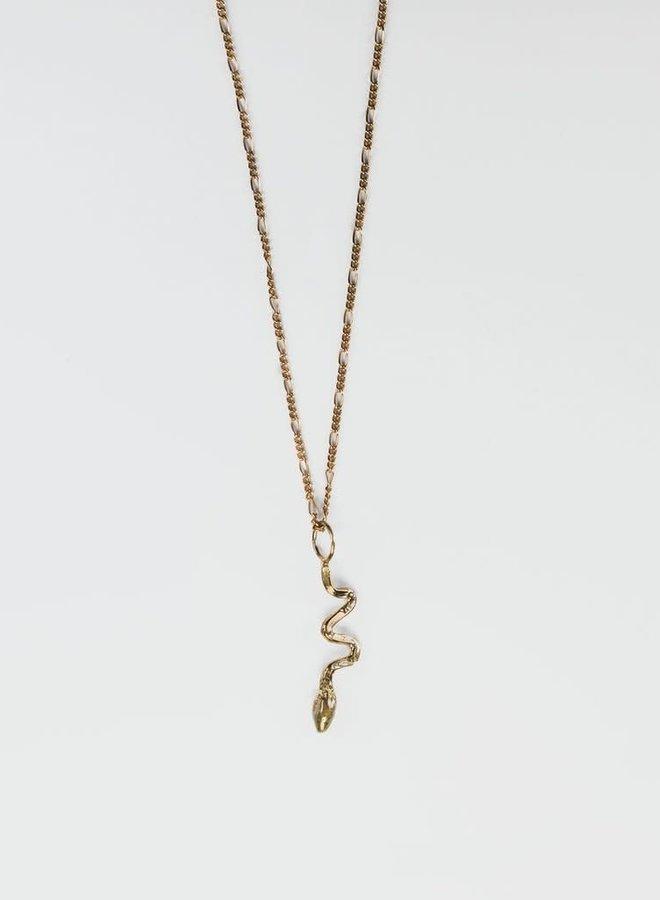 Collier 20'' - Chaîne figaro et serpent