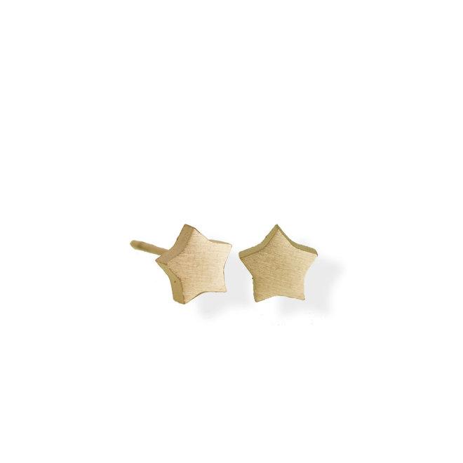 Boucle d'oreilles Étoile en acier inoxydable - Or